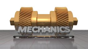 Mechanics - Gears - Toothed wheels Royalty Free Stock Photography