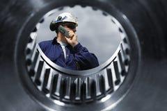 Mechanics and giant cogwheels machinery Royalty Free Stock Images