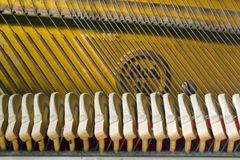 Mechanics of grand piano Royalty Free Stock Photography