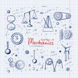 Mechanics. Handdrawn illustration set: Mechanics. Set in doodle style. Eps10 vector stock illustration