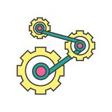 Mechanics icon vector sign and symbol isolated on white background, Mechanics logo concept. Mechanics icon vector isolated on white background for your web and vector illustration