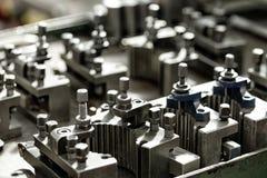 Mechanics lathe parts Royalty Free Stock Photo