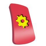 Mechanics. Logo of mechanics on red background Royalty Free Stock Image