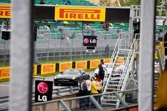 Mechanics at Montreal Grand prix Stock Photo