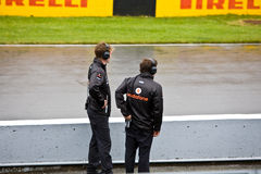 Mechanics at Montreal Grand prix Royalty Free Stock Photography