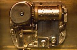 Mechanics of a music box. Mechanics of an old music box Royalty Free Stock Photos