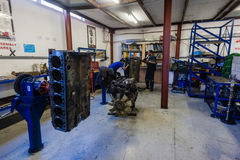 Engines Blocks Mechanics Rebuild Workshop Royalty Free Stock Images