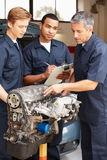 Mechanics at work stock photography