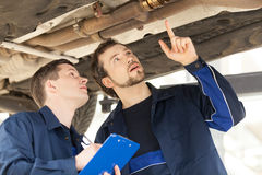 Mechanics at work. Stock Images
