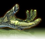 mechaniczna ręka ilustracji
