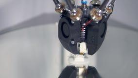 Mechaniczna ręka fabrykuje 3D protestuje dla przemysłowej fabryki 4K zdjęcie wideo