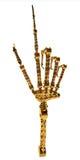 mechaniczna złocista ręka Fotografia Stock
