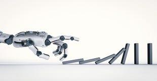 Mechaniczni ręki zawalenia się domina Zdjęcie Stock