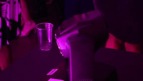 Mechaniczny dyskoteki światło przy tana klubem zbiory