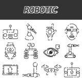 Mechaniczny ikona set Obrazy Stock