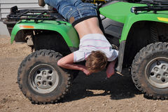 mechanik nastolatków Zdjęcia Royalty Free