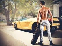 mechanik seksowny obraz royalty free