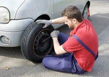 Mechanik target1_1_ samochodowego problem obraz stock