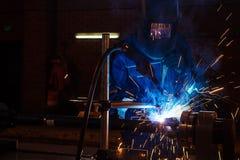 Mechanika spawalniczy metal fotografia stock