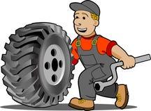 Mechaniker. stock abbildung
