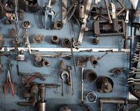 Mechaniker bearbeitet Bank Stockbild