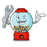 Mechaniker gumball Maschinen-Maskottchenkarikatur lizenzfreie abbildung