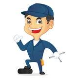 Mechaniker Holding Tool Stockfotos