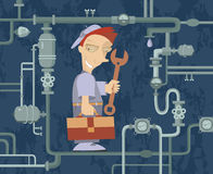 Mechaniker Illustration Lizenzfreie Stockfotos