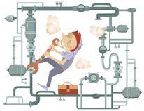 Mechaniker Illustration Lizenzfreie Stockbilder
