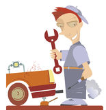 Mechaniker Illustration lizenzfreie abbildung