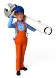 Mechaniker mit Schlüssel Stockfotos