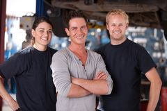 Mechaniker-Team Stockfotografie