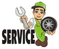 Mechaniker und Service stock abbildung