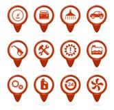 Mechaniker- und Service-Nadelanzeigen lizenzfreie abbildung