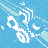 Mechanikerabbildungvektor lizenzfreie abbildung