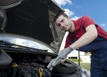 Mechanikerarbeitszusammenbruch Lizenzfreies Stockfoto