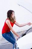 Mechanikerfrau Stockfoto