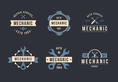Mechanikerlogosatz Stockbild