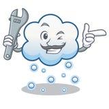 Mechanikerschneewolken-Charakterkarikatur Lizenzfreie Stockfotos