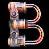 Mechanisch alfabet dat van ijzer wordt gemaakt Royalty-vrije Stock Fotografie