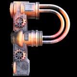Mechanisch alfabet dat van ijzer wordt gemaakt Stock Foto