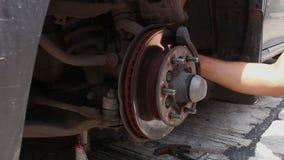 Mechanisch Changing Disc Brake van Auto stock video