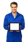 Mechanisch Displaying Digital Tablet royalty-vrije stock afbeelding