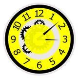 Mechanisch horloge royalty-vrije stock foto's