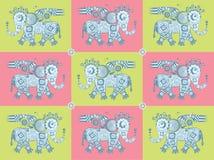 Mechanisch olifantspatroon Stock Afbeelding