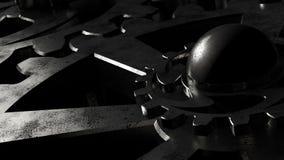 Mechanisch systeem van toestellen tijdens verrichting stock footage