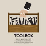 Mechanisch Toolbox. Stock Foto's