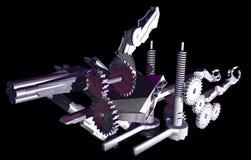 Mechanische abstractie 2 Stock Illustratie