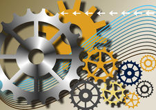 Mechanische conceptenachtergrond. Royalty-vrije Stock Foto's