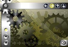 Mechanische conceptenachtergrond. Royalty-vrije Stock Foto